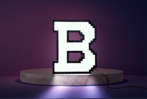 WLWYB LEGO Lighting Letter B lightened up