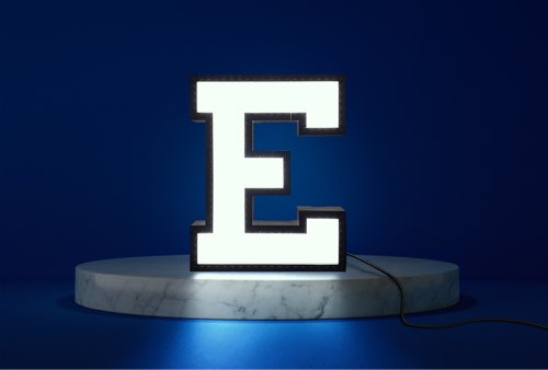 WLWYB LEGO Lighting Letter E lightened up