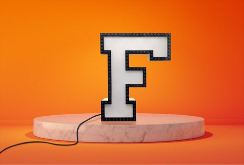 WLWYB LEGO Lighting Letter F unlit