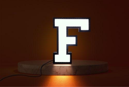 WLWYB LEGO Lighting Letter F lightened up