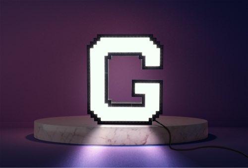 WLWYB LEGO Lighting Letter G lightened up