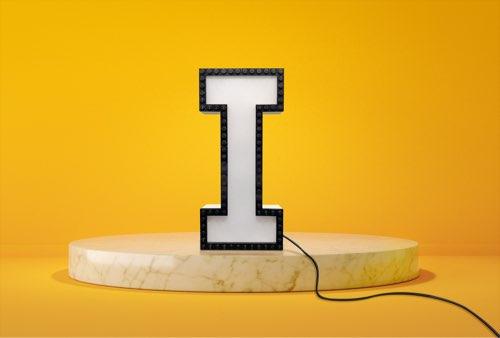 WLWYB LEGO Lighting Letter I unlit