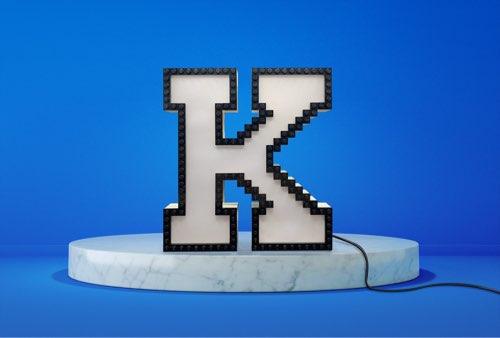 WLWYB LEGO Lighting Letter K unlit