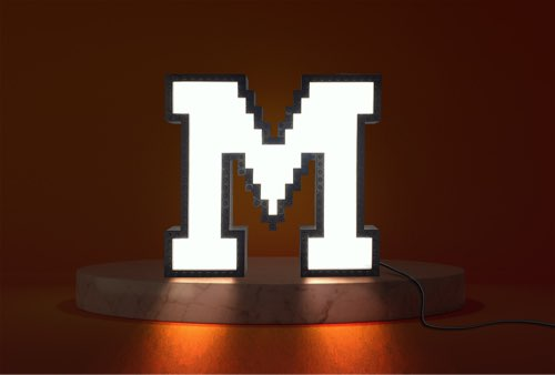 WLWYB LEGO Lighting Letter M lightened up