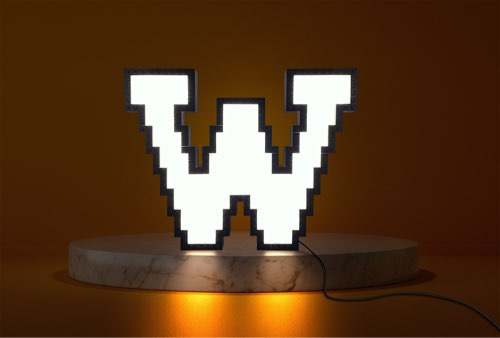 WLWYB LEGO Lighting Letter W lightened up