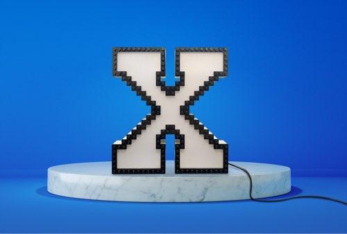 WLWYB LEGO Lighting Letter X unlit