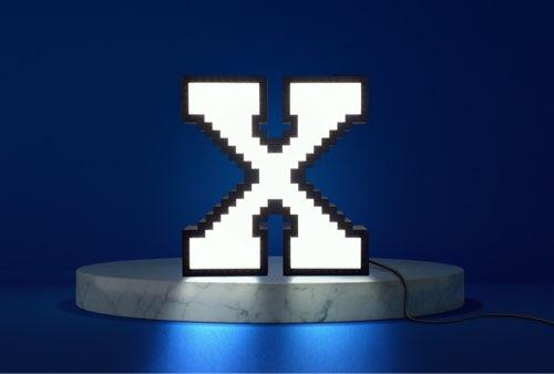 WLWYB LEGO Lighting Letter X lightened up