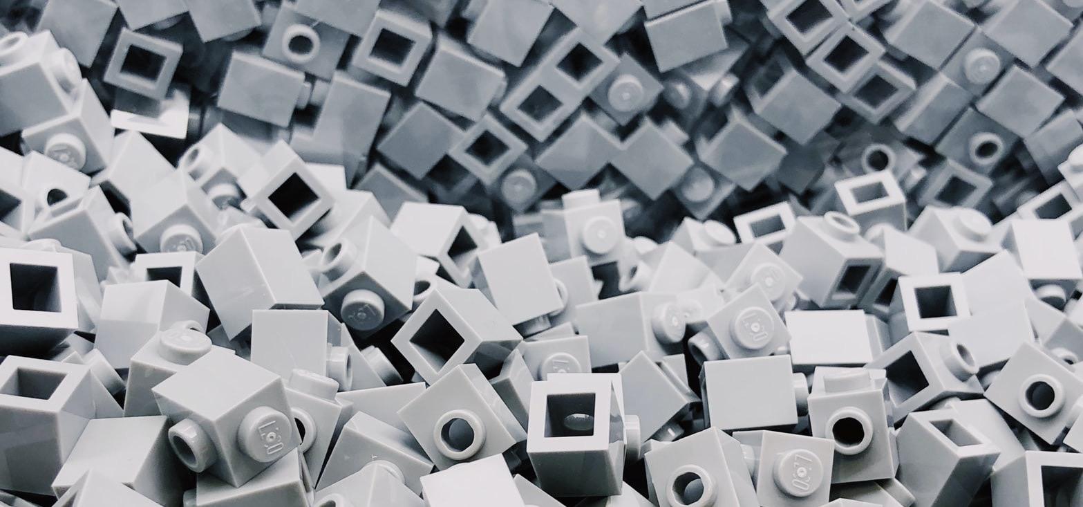 LEGO Periodic Table - gray LEGO bricks