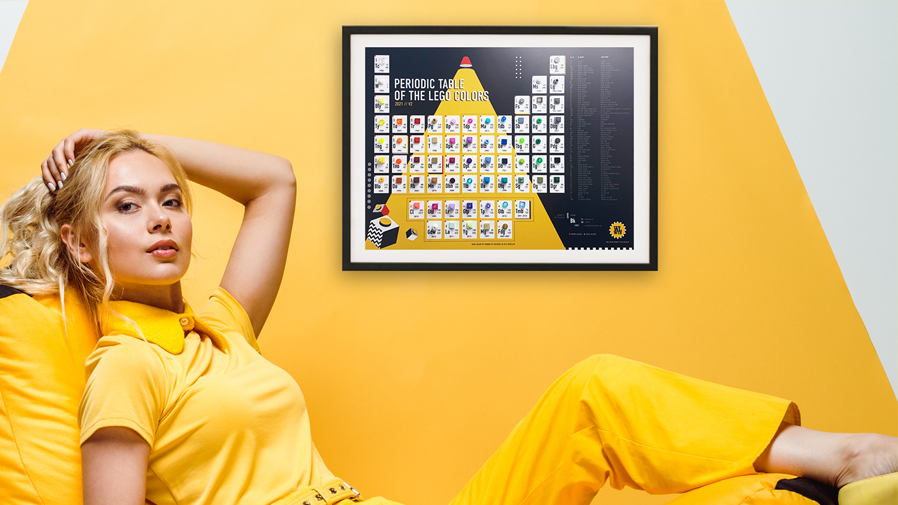 LEGO Periodic Table - Perfect for girls with tase of home decor