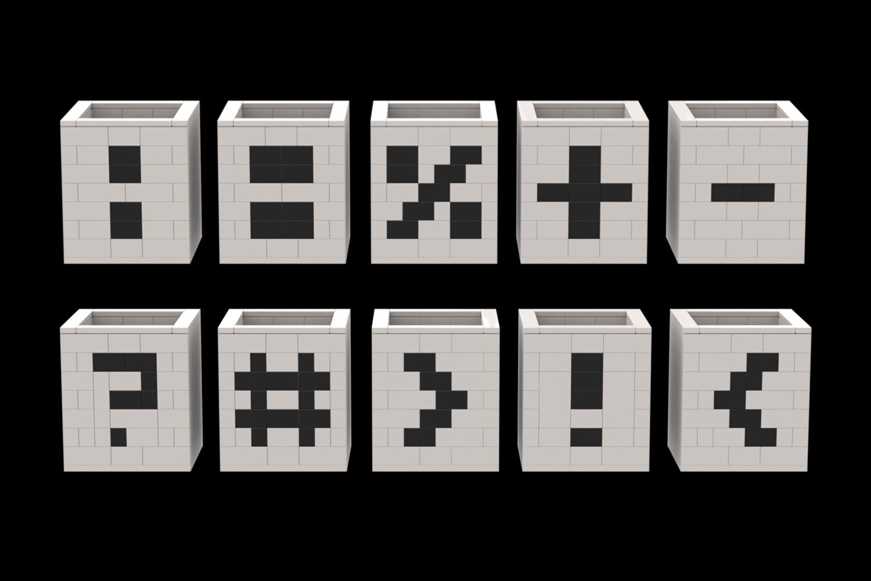 WLWYB Digit Cube Numbers and Symbols